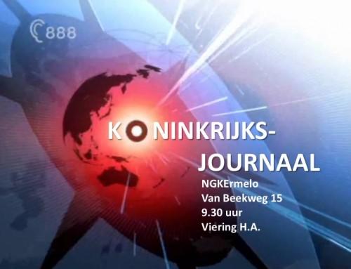 Zondag 15 april: 'Koninkrijksjournaal'