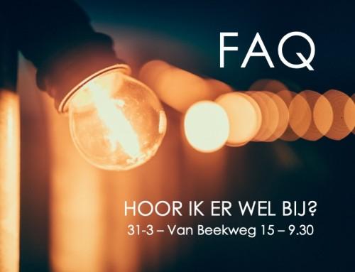 'Hoor ik er wel bij?' FAQ 2 Online