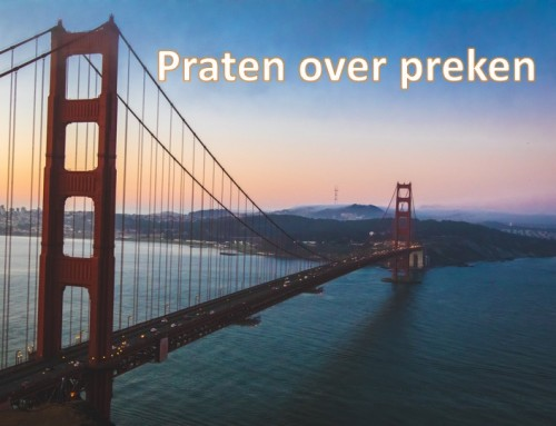 'Praten over preken'