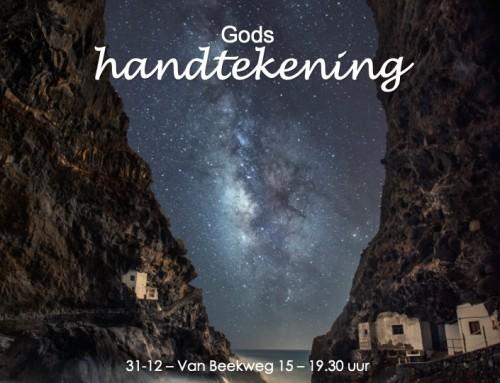 Gods handtekening – Oudjaarsdienst 2019