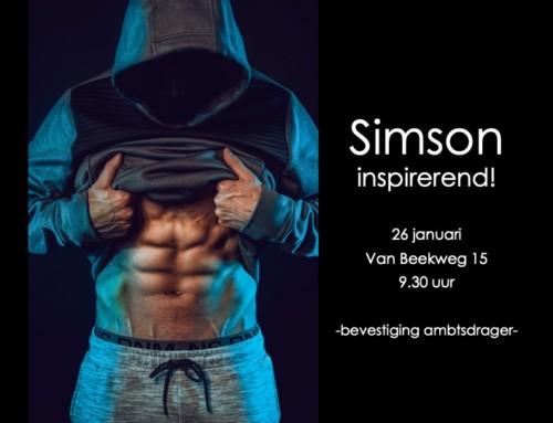 Zondag 26-1 'Simson' – online
